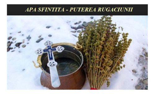 APA SFINȚITĂ-PUTEREA RUGĂCIUNII!