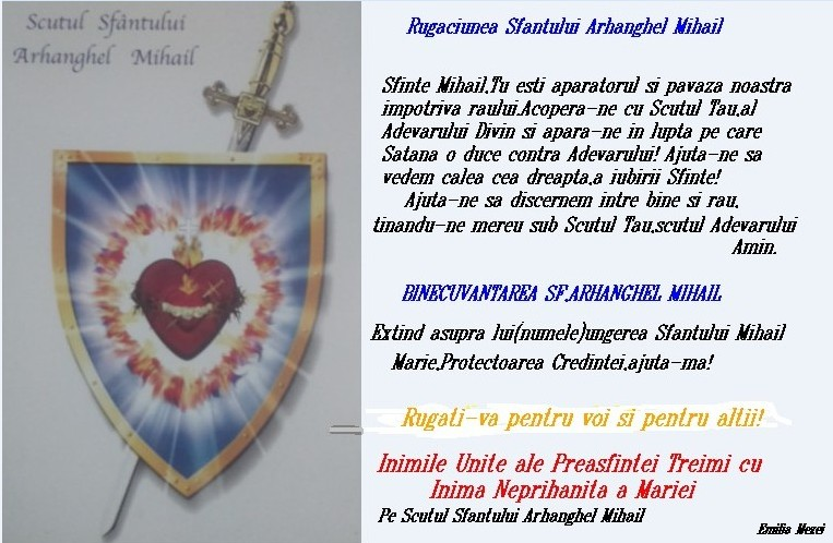 Scutul Sfăntului Arhanghel Mihail-Scutul Adevărului!
