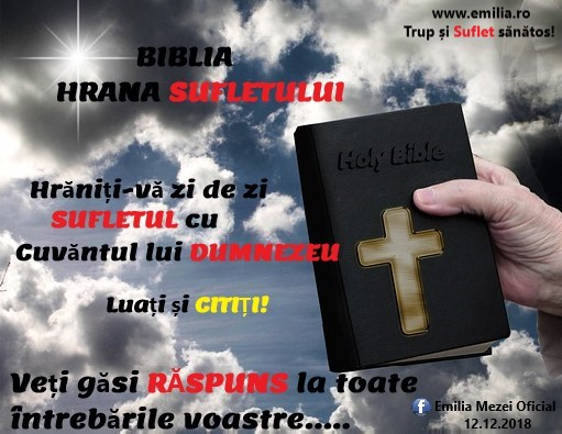 BIBLIA -Hrana SUFLETULUI!