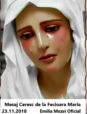 Mesaj Ceresc de la Fecioara Maria 23,11,2018