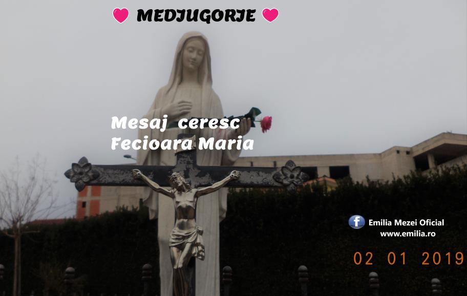 Mesaje Medjugorje de la Fecioara Maria 2.01.2019