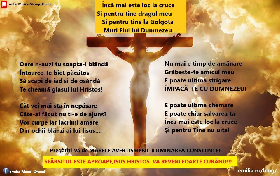 Încă mai este loc la cruce  și pentru Tine nu uita!Urgent la Convertire!!!