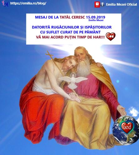 Mesaj de la Tatăl Ceresc 15.09.2019