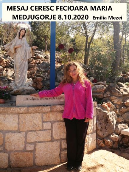 Mesaj de la Fecioara Maria în Medjugorje, la Crucea Albastră, 8 octombrie 2020,