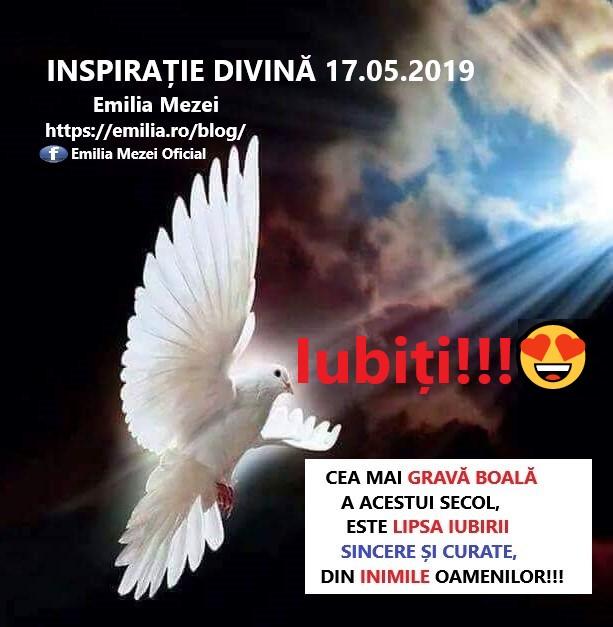 Inspirație Divină 17.05.2019 IUBIȚI!!!