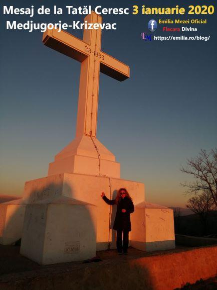 Mesaj de la Tatăl Ceresc 3 ianuarie 2020 Medjugorje-Krizevac