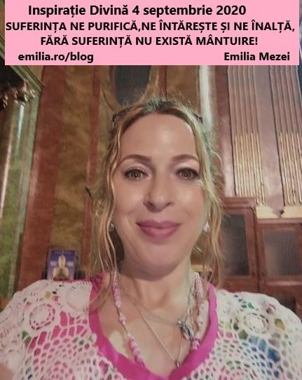 Inspirație Divină vineri 4 septembrie 2020- FĂRĂ SUFERINȚĂ NU EXISTĂ MÂNTUIRE!