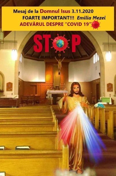 """Mesaj de la Domnul Isus 3.11.2020 FOARTE IMPORTANT!!! ADEVĂRUL DESPRE """"COVID 19"""""""