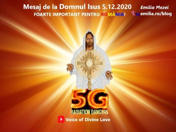 Mesaj de la Domnul Isus 5.12.2020. FOARTE IMPORTANT!!!